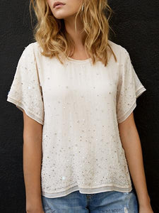 AS by DF La Lune Beaded Tee