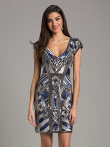 Lara Collette Beaded Cocktail Dress