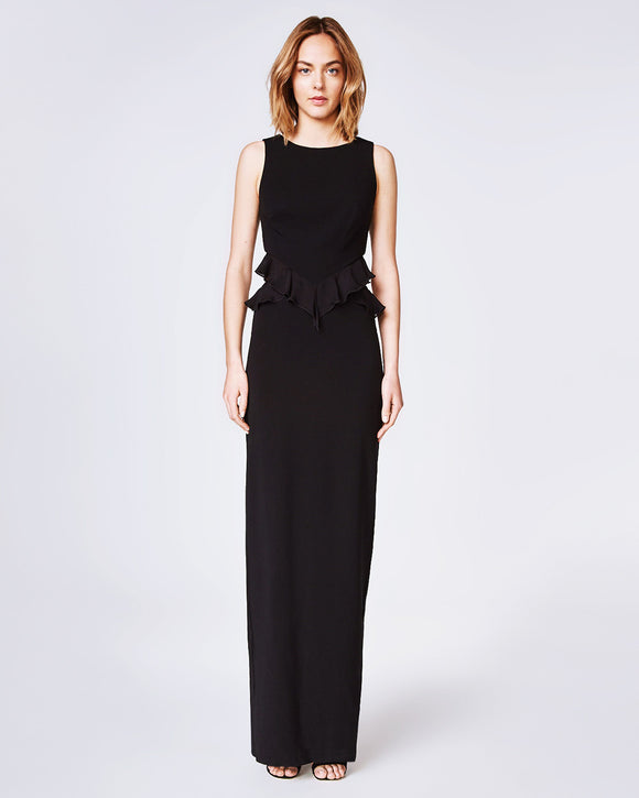 Nicole Miller Queen of the Night Ruffle Gown