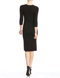 Bailey 44 Alexis Knit Black Midi Dress