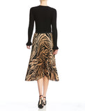 Bailey 44 Logan Zebra Print Pleated Midi Skirt