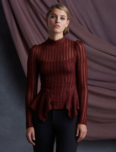 Bailey 44 Eleanor Lace Top in Pinot
