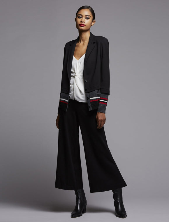 Bailey 44 Lizzie Black Wide Leg Cropped Pant