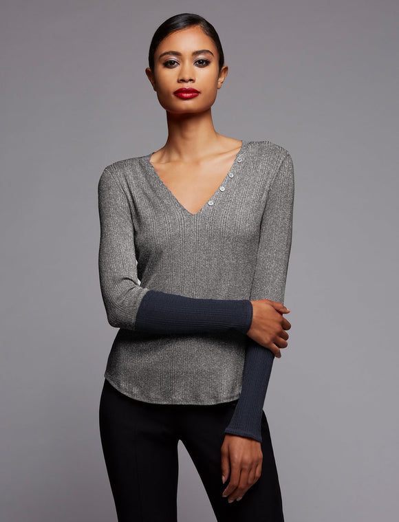 Bailey 44 Brienne Top Grey