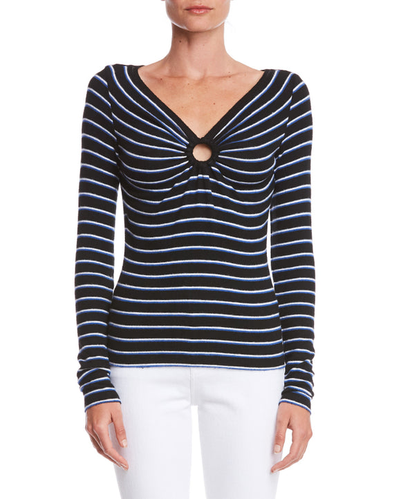 Bailey 44 Warm and Fuzzy Striped Knit Sweater