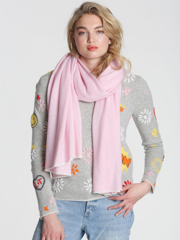 LABEL+thread Cashmere Luxe-30 Jet Travel Wrap Pink