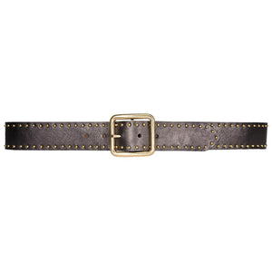 Streets Ahead Tina Leather Studded Belt in Pewter