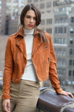 Jakett NYC Savannah Matte Leather Jacket Sedona