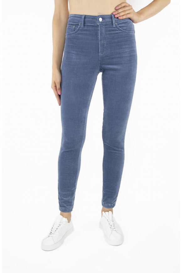 Tractr Jeans Nina Corduroy High-Rise Skinny Blue