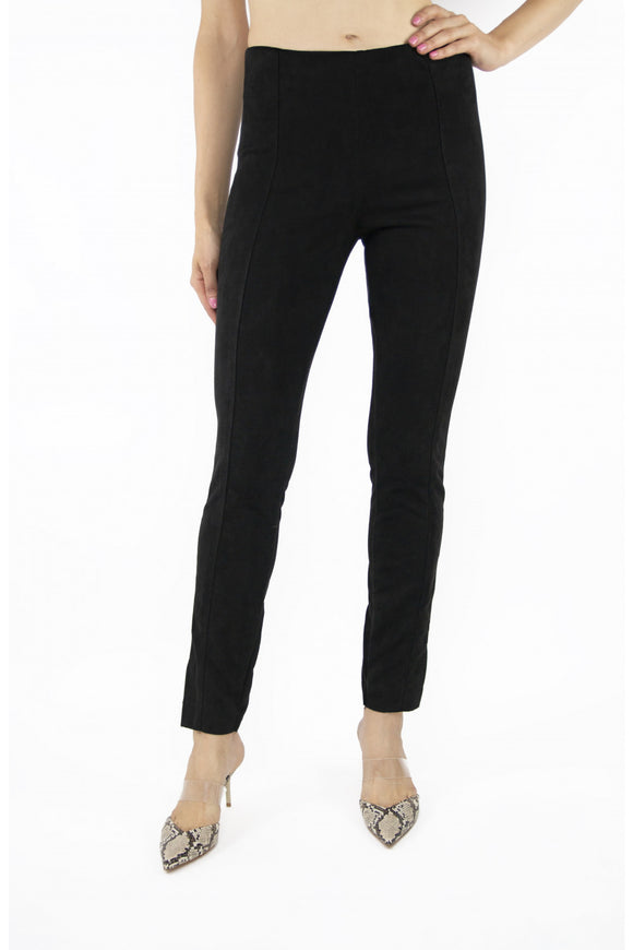 Tractr Faux Suede High-Rise Pants