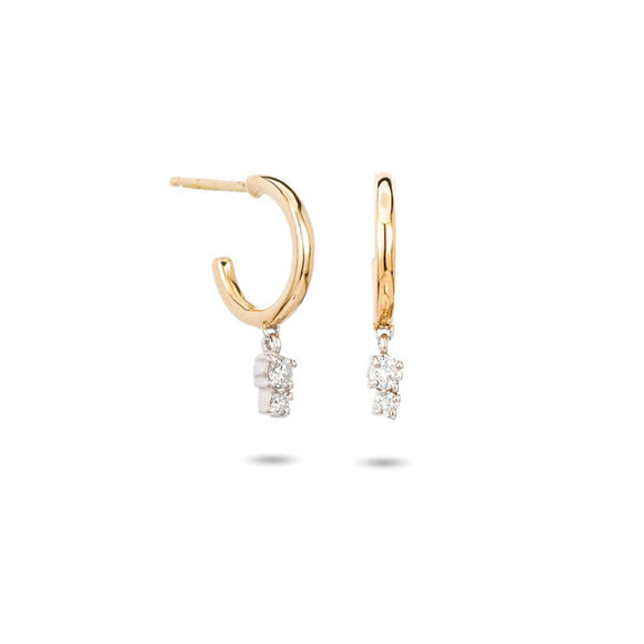 Adina Reyter 2 Diamond 14K Gold Huggie Hoops