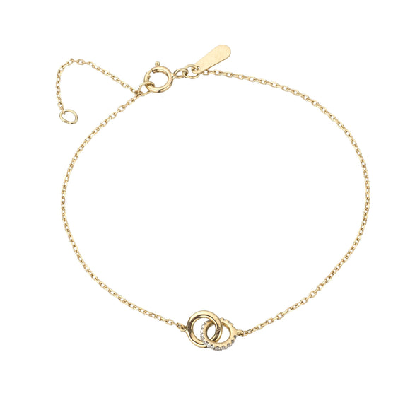 Adina Reyter Pavé 14k Gold Interlocking Loop Bracelet