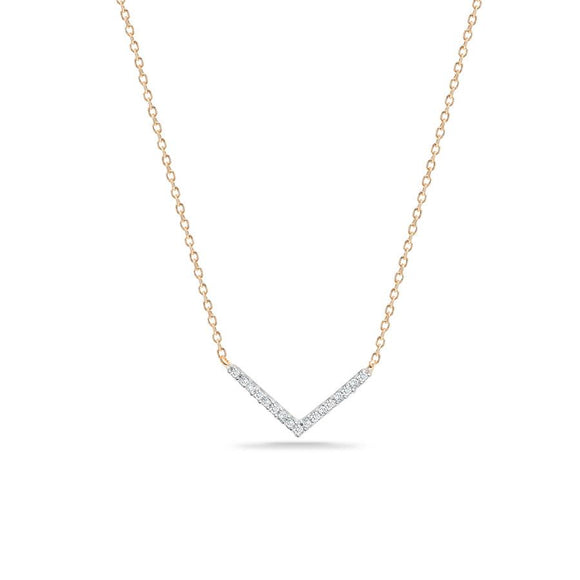 Adina Reyter 14K Gold Pavé V Necklace