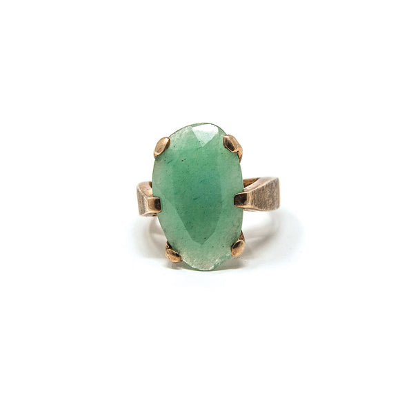 Bora Chalcedony Gold Plated Ring