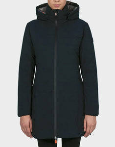 Save the Duck Matt Women's Faux Down Hooded Jacket Black