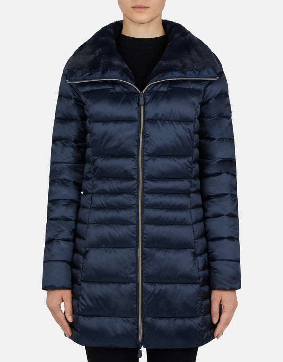 Save the Duck Iris Faux Down Jacket Blue Black