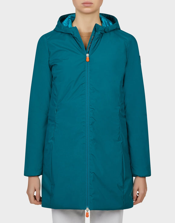 Save the Duck Women's Maty Hooded Jacket Seaweed Green