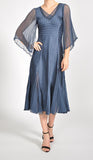 Komarov Wide-Sleeve Dress