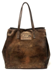 Undici Dieci Leather Bucket Bag