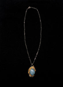 Bora Gold Plated Aquamarine Quartz Necklace