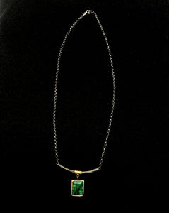 Bora Gold Plated Emerald Necklace
