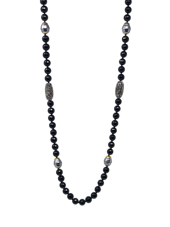 Behroz Black Onyx Beaded Necklace