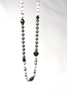 Behroz Hematite Beaded Necklace