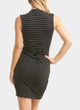 Tart Collections Chris Striped Dress Black