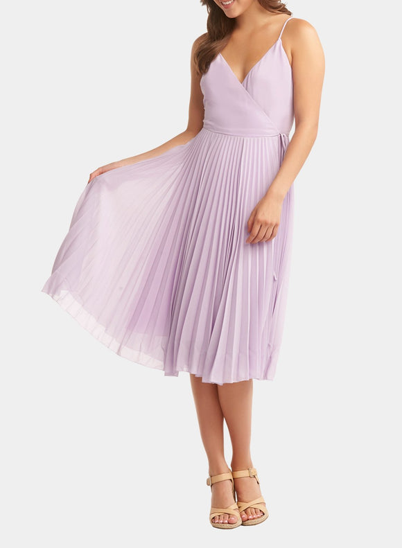 Tart Collections Alesandro Pleated Midi Dress Lilac