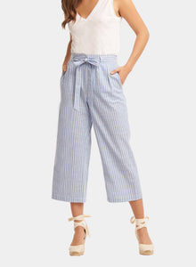 Tart Collections Winston Crop Pant Pin Stripe Blue