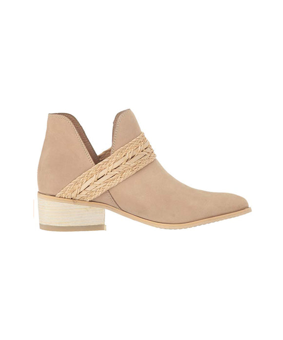 Kaanas Ra Tan Leather Ankle Bootie