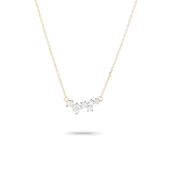 Adina Reyter 14K Gold Scattered Heart Diamond Necklace