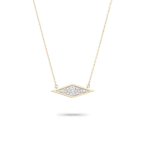 Adina Reyter 14K Gold Solid Pavé Diamond Necklace