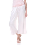 Jolie Satin Ankle Pant with Rib Waistband