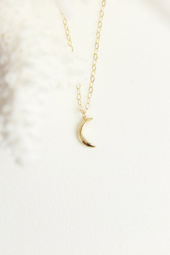 Robin Haley Tiny Moon Necklace