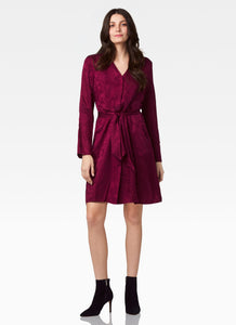 Ecru Washington V-Neck Animal Print Shirt Dress