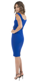 Black Halo Jackie O Dress Cobalt