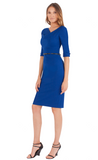 Black Halo Jackie O 3/4 Sleeve Dress Cobalt