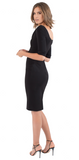 Black Halo Jackie O 3/4 Sleeve Dress Black
