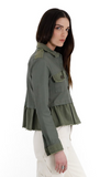 Jakett NYC Aubry Leather Jacket in Army Green