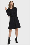 Joseph Ribkoff Long Sleeved Black Dress