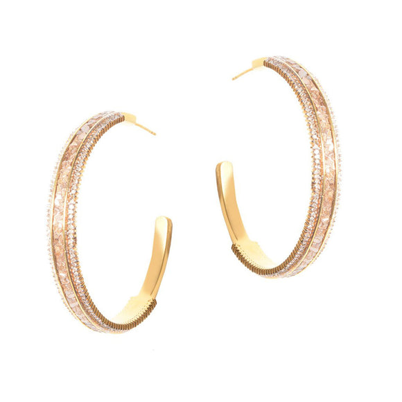 Shana Gulati Hapur Gold Pave Diamond Hoops