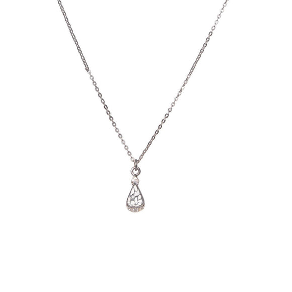 Shana Gulati Sterling Silver Pavé Diamond Palo Pendant Layering Necklace