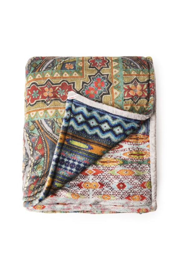 Johnny Was Patchwork Cozy Blanket