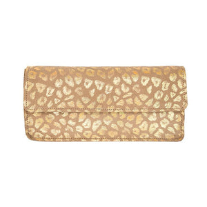 Streets Ahead Enya Leopard Print Leather Clutch