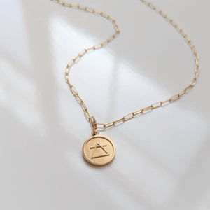 Thatch Jewelry 14K Gold Elements Pendant Necklace