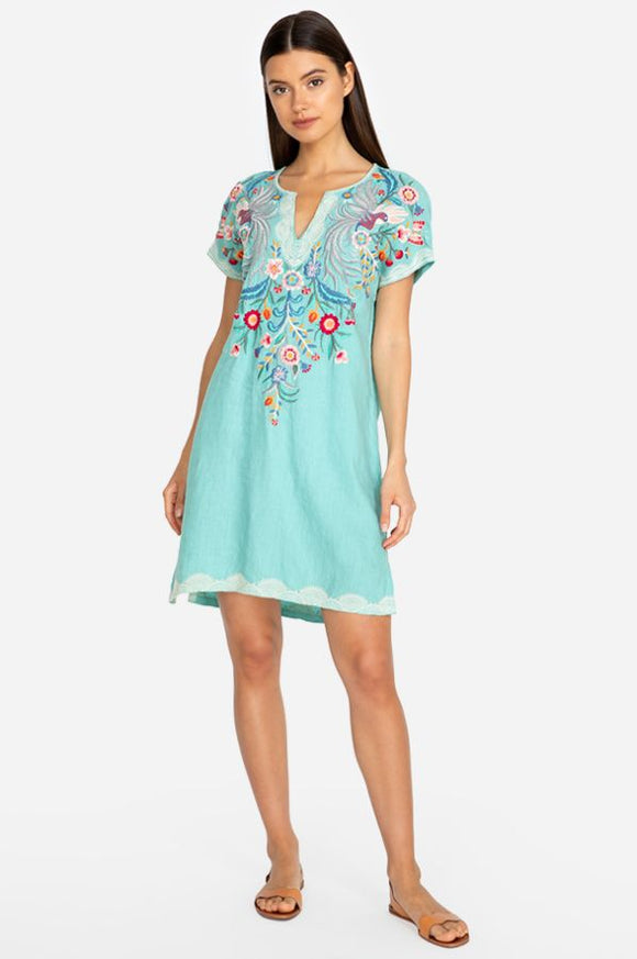 Johnny Was Bisous Embroidered Linen Tunic