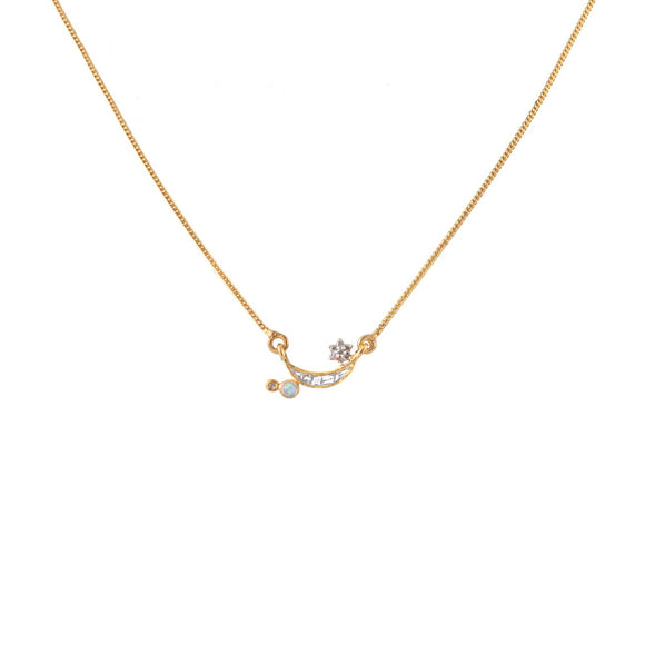 Shana Gulati Kolar 18K Gold Diamond Pendant Necklace