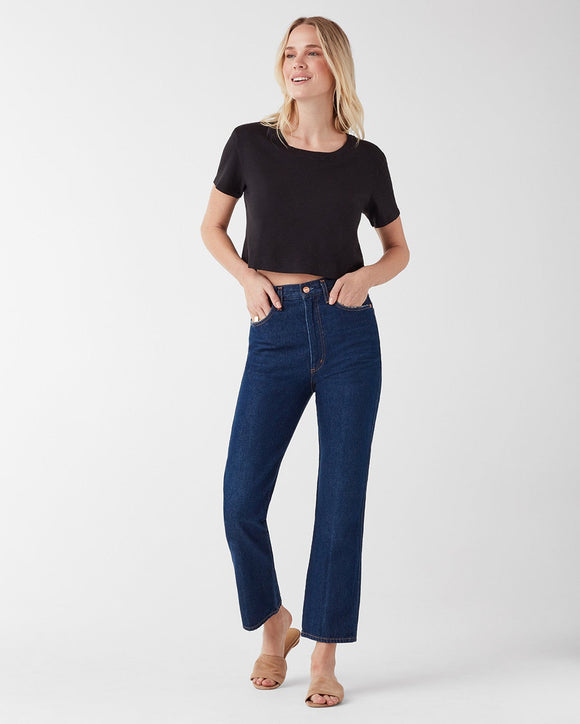 Splendid Cass Black Cropped Tee