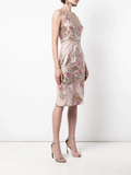 Marchesa Notte Sequin Embroidered Fitted Dress